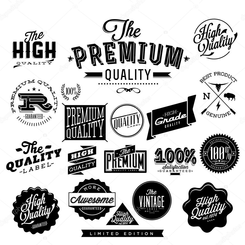 Premium Quality High Quality And Guarantee Labels Retro