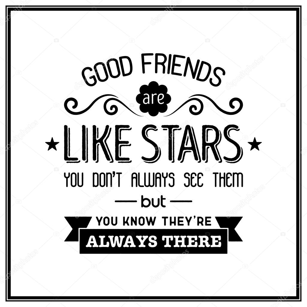 Friendship Quote Typographical Background