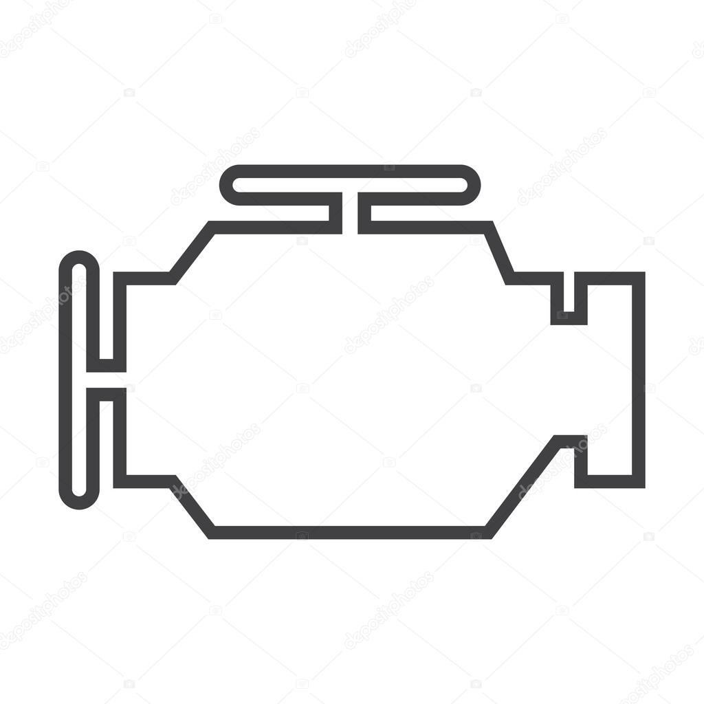 Engine Black Simple Icon On White Background For Web