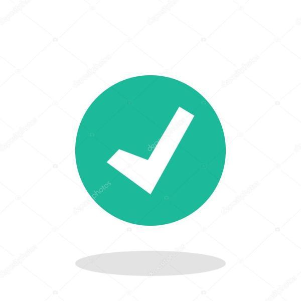 Вектор: иконка галочка. Значок галочки вектор — Векторное ...