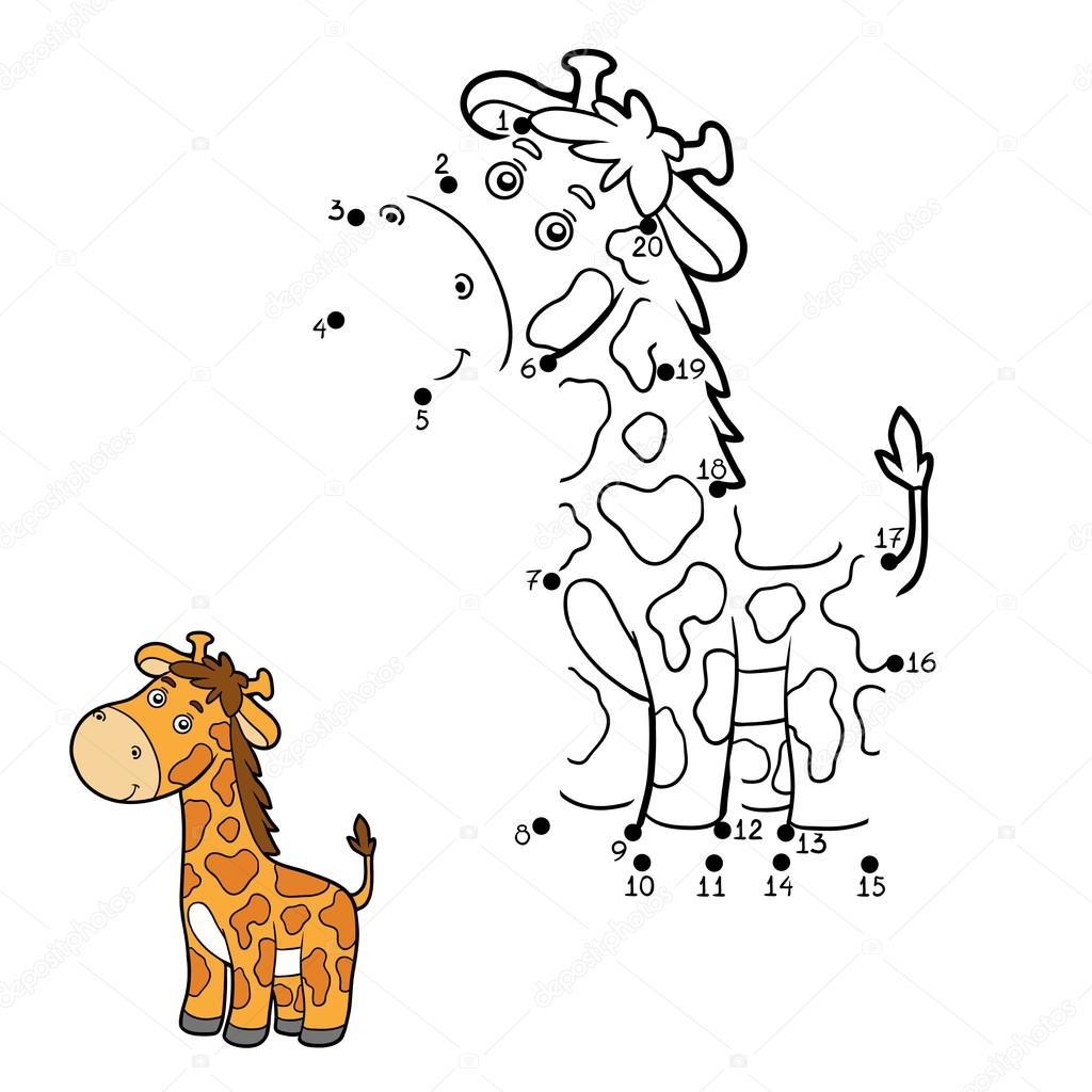 Numbers Game Dot To Dot Giraffe
