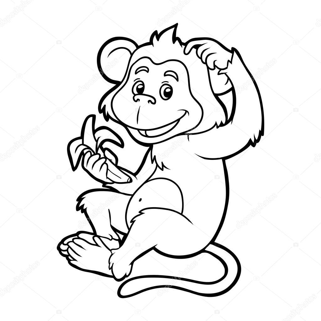 Libro Para Colorear Para Ninos Mono