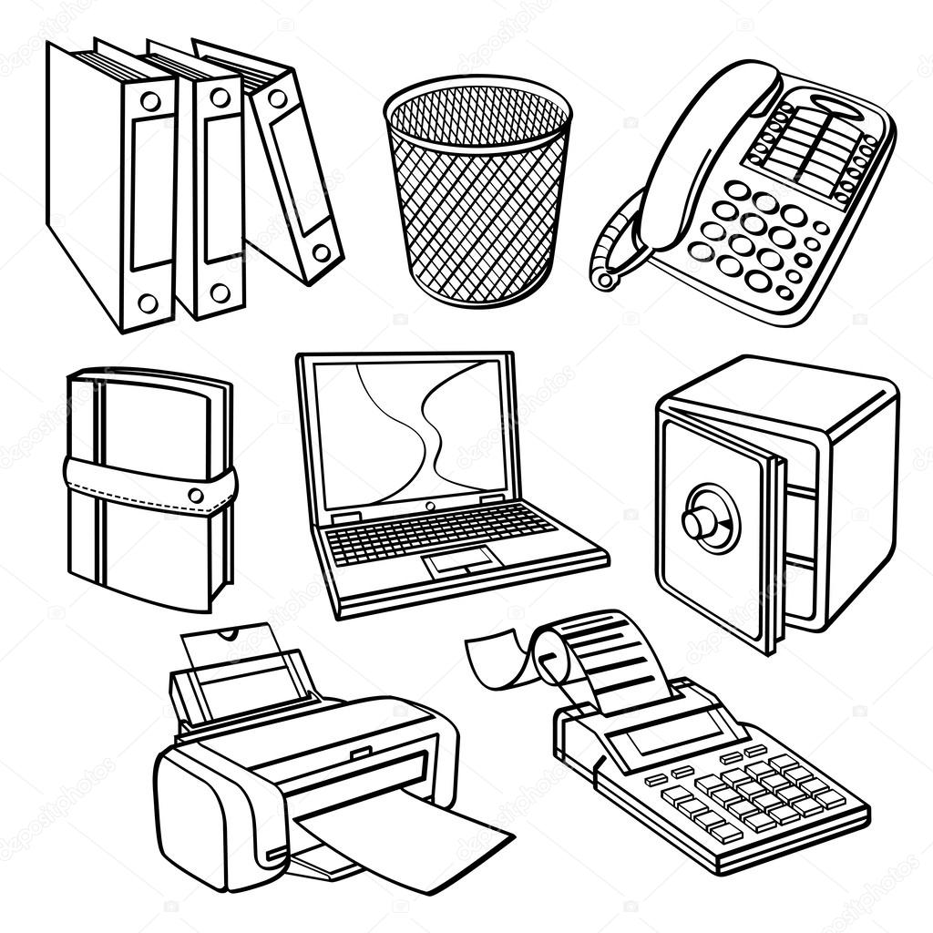 Coleccion De Equipos De Oficina