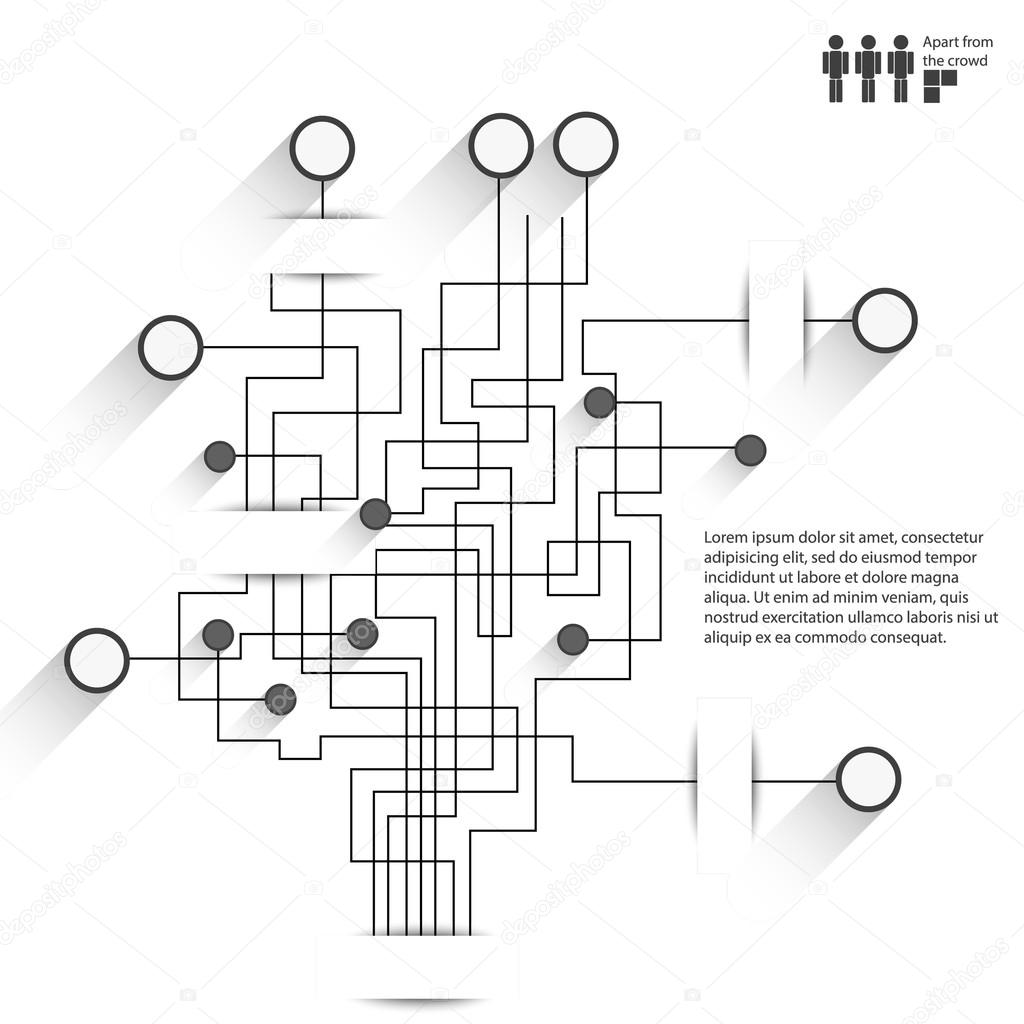 Vector Circuit Board Background Infographic Style