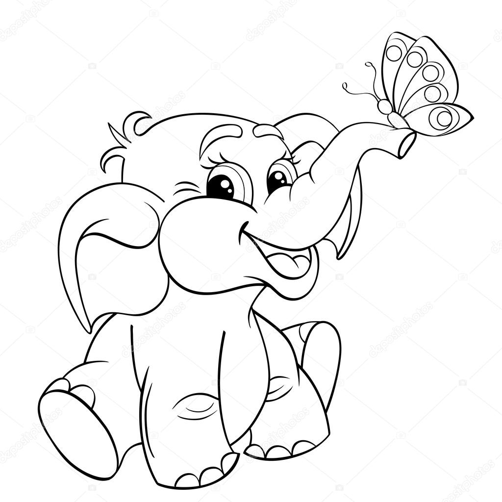 Elefante Bebe De Dibujos Animados Divertidos Con