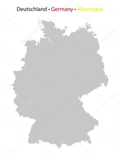 germany map  grey silhouette  high detailed     Stock Vector      madorf     Germany map  high detailed  grey on white background     Vector by madorf