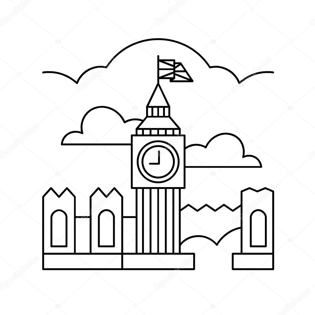 Big Ben Londyn Ikona