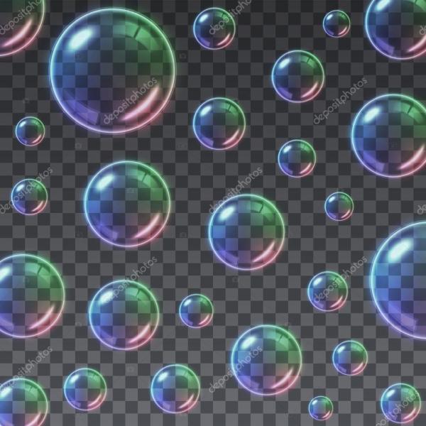 Картинка мыльные пузыри. Прозрачный фон разноцветные ...