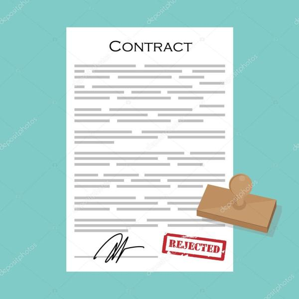 Contract with stamp rejected — Stock Photo © viktorijareut ...