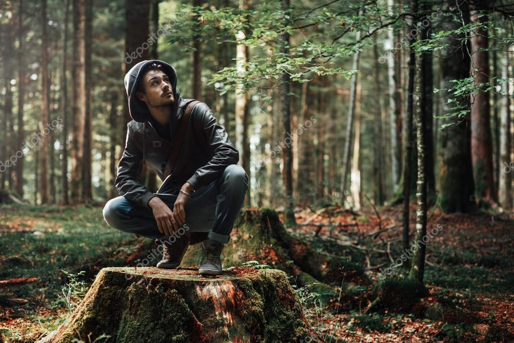 It is located on minnesota's 94th largest lake (not including lake superior). Young Man Exploring The Forest Stock Photo By C Stockasso 88021050