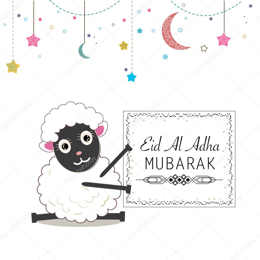 Funny Sheep Vector Illustration Islamic Festival Of
