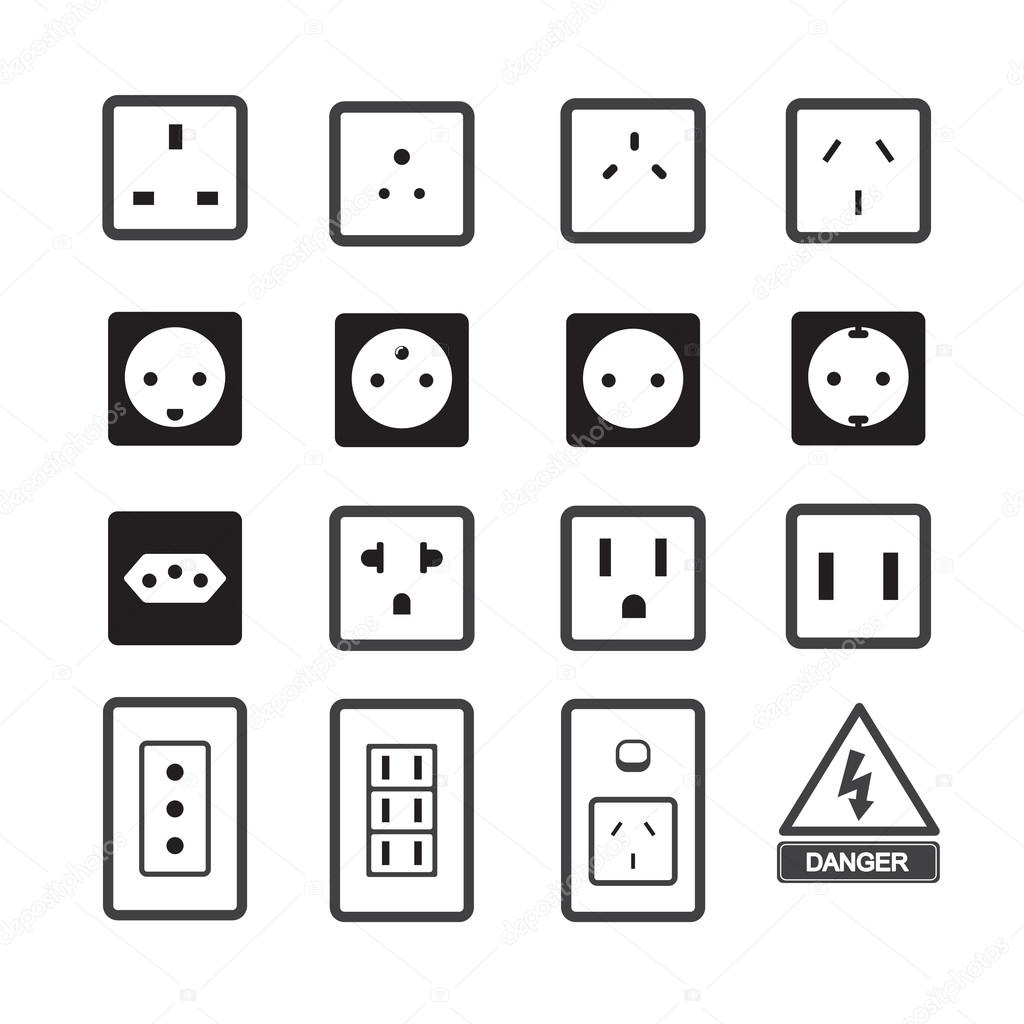 Electric Outlet And Plug Icon