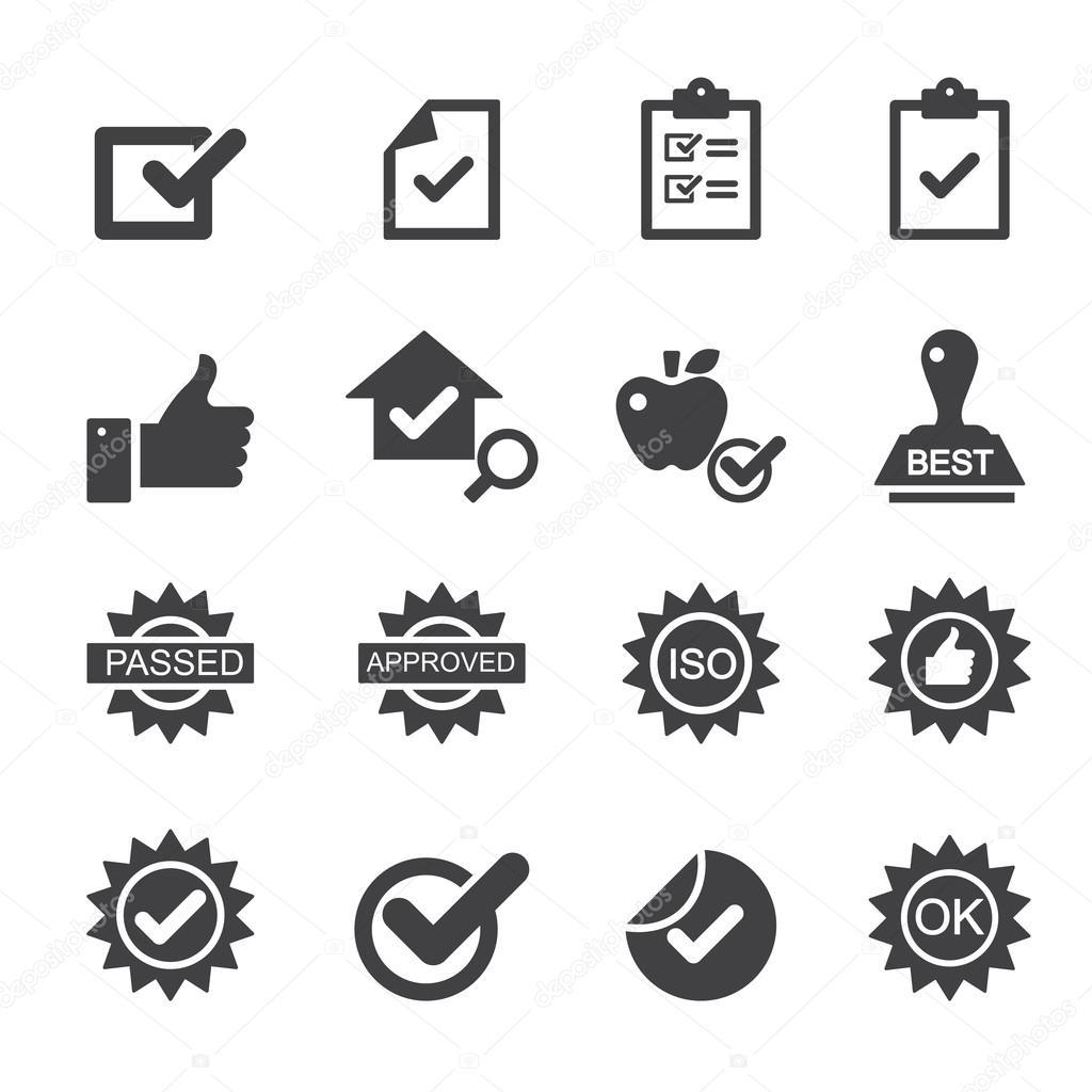 Iconos De Control De Calidad