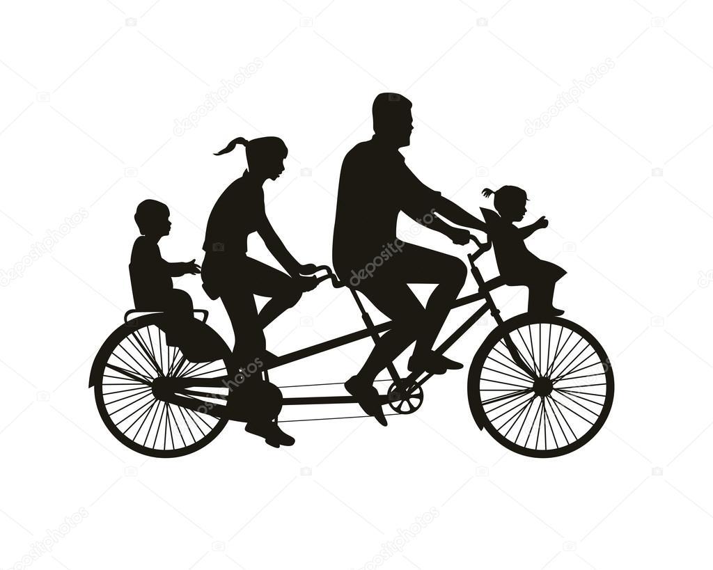Paseo Familiar En Bicicleta Tandem