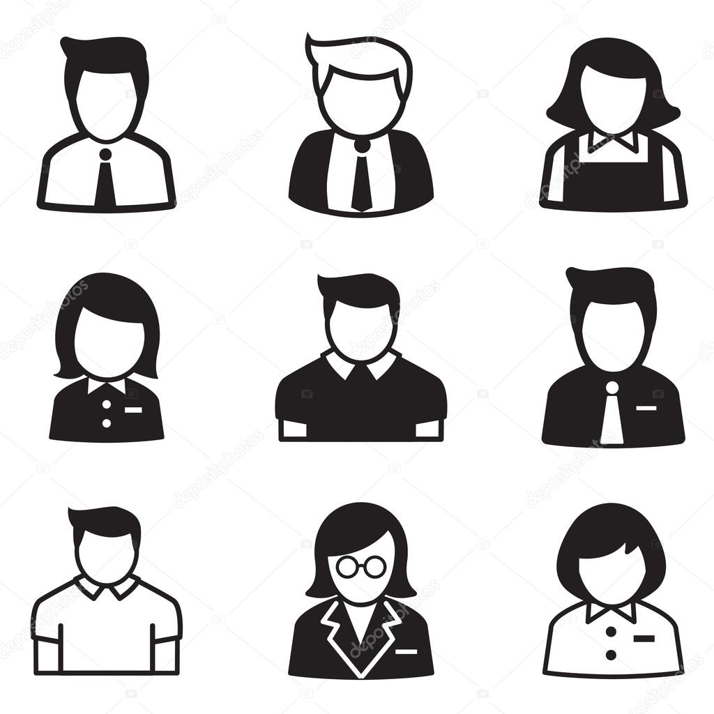 Gebruiker Account Personeel Werknemer Meid Iconen