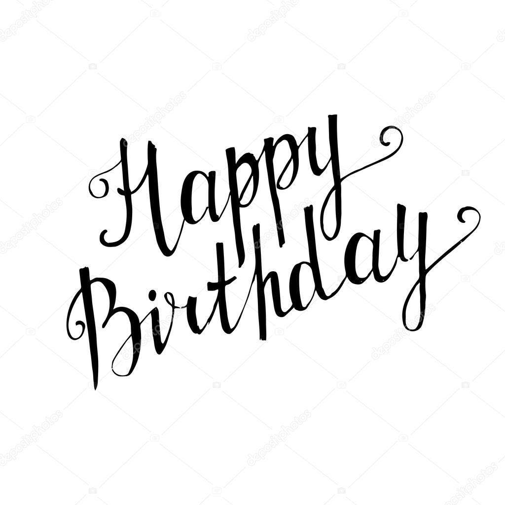 Happy Birthday Handgeschreven Letters