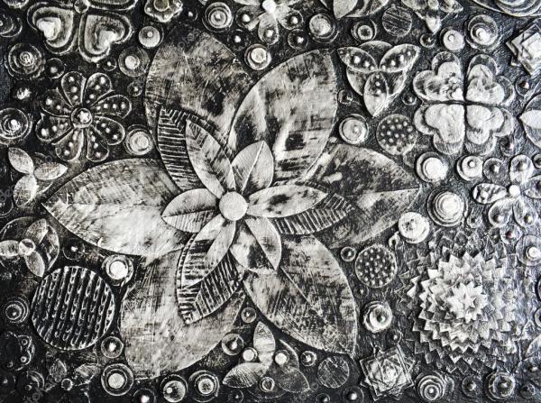 Черно белые картинки цветы. Черно-белые гранж цветы ...