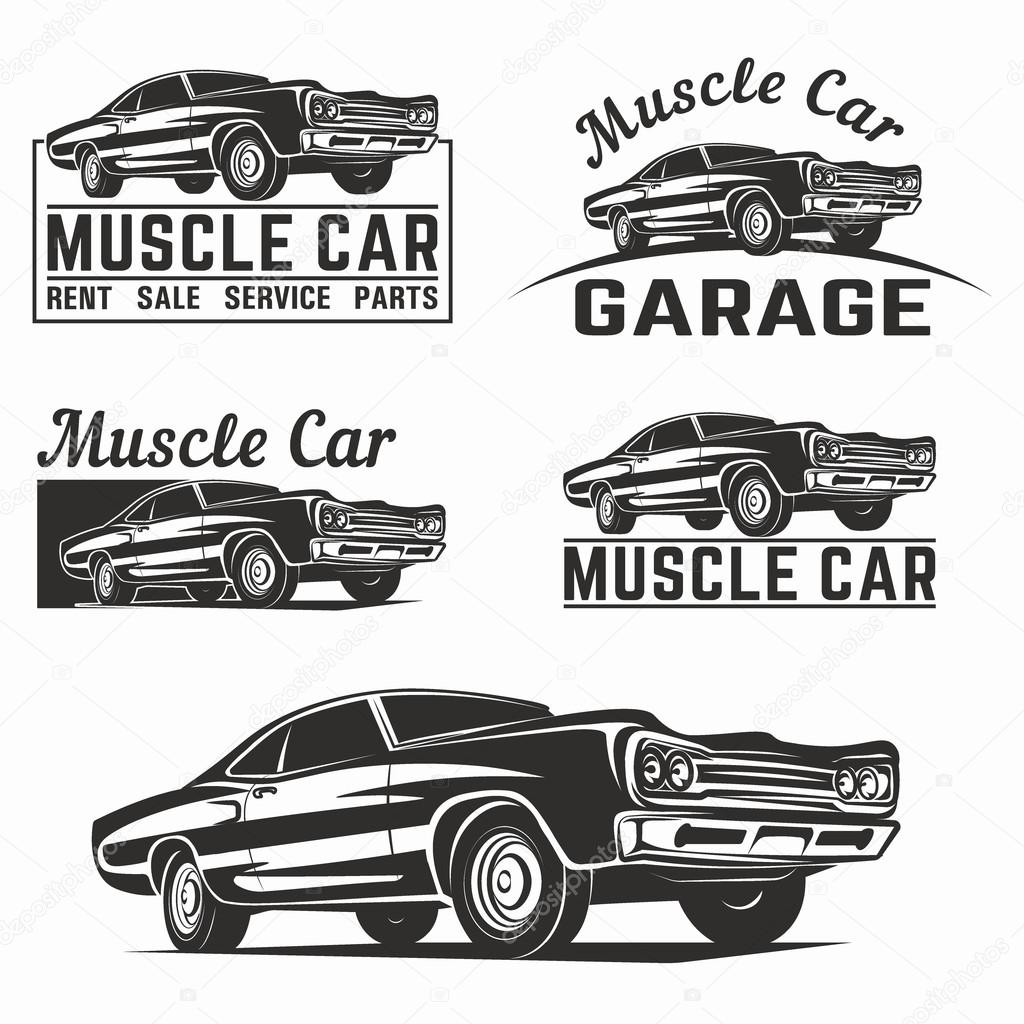 Muscle Car Vector Logo Emblem
