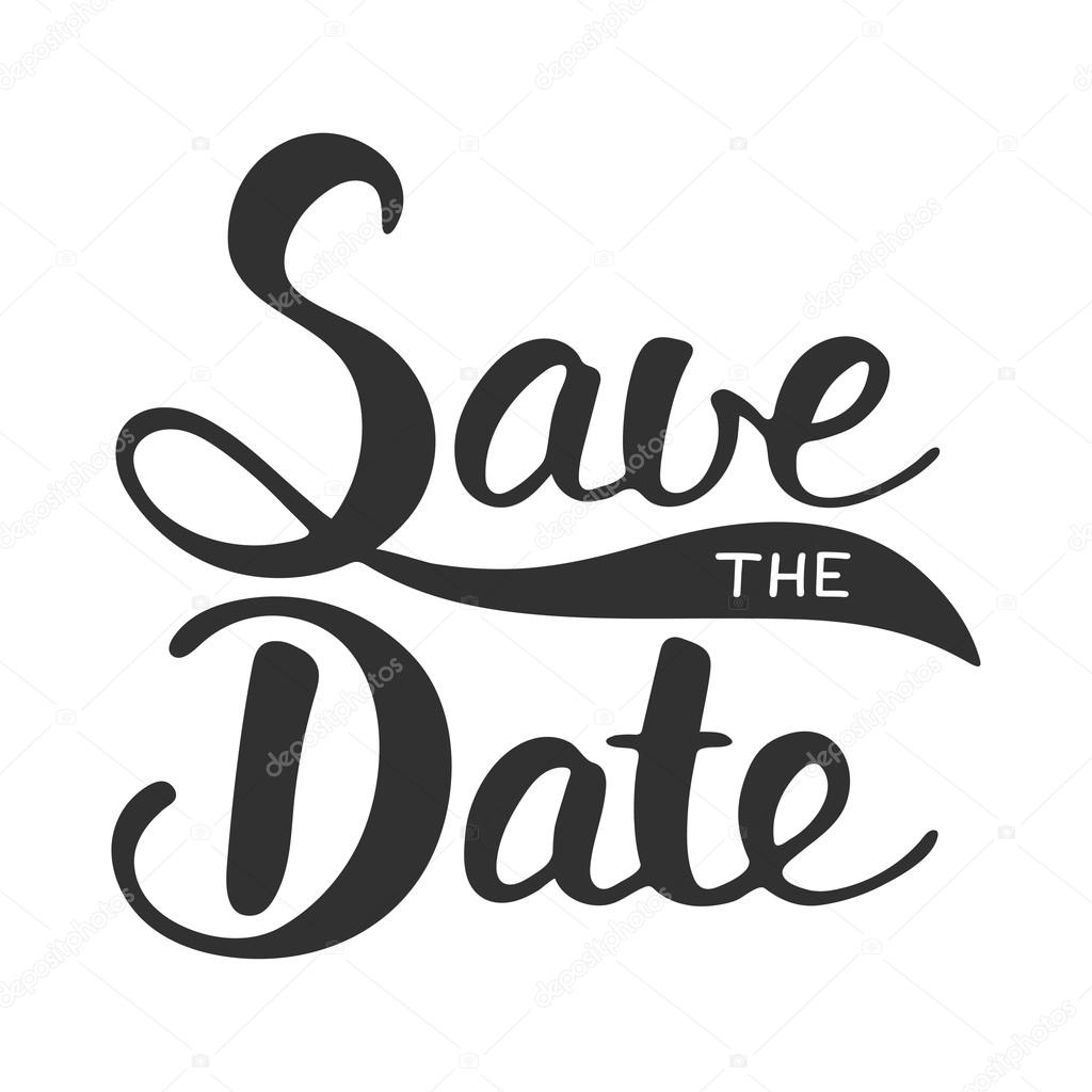 Save The Date Invite Card Vector Template With Modern