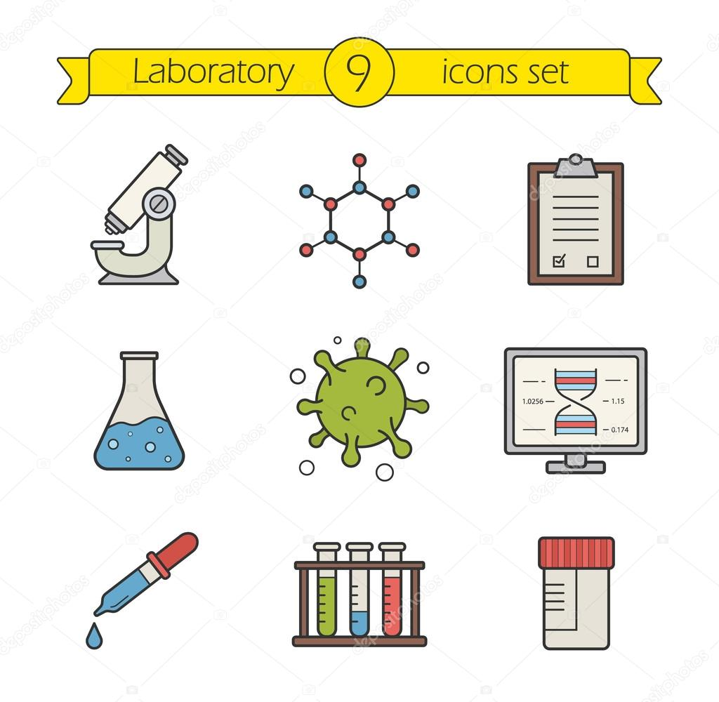 Science Laboratory Tools Icons Set