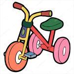Tricycle Cartoon Illustration Isolated On White Stock Vector C Foxynguyen 65942699
