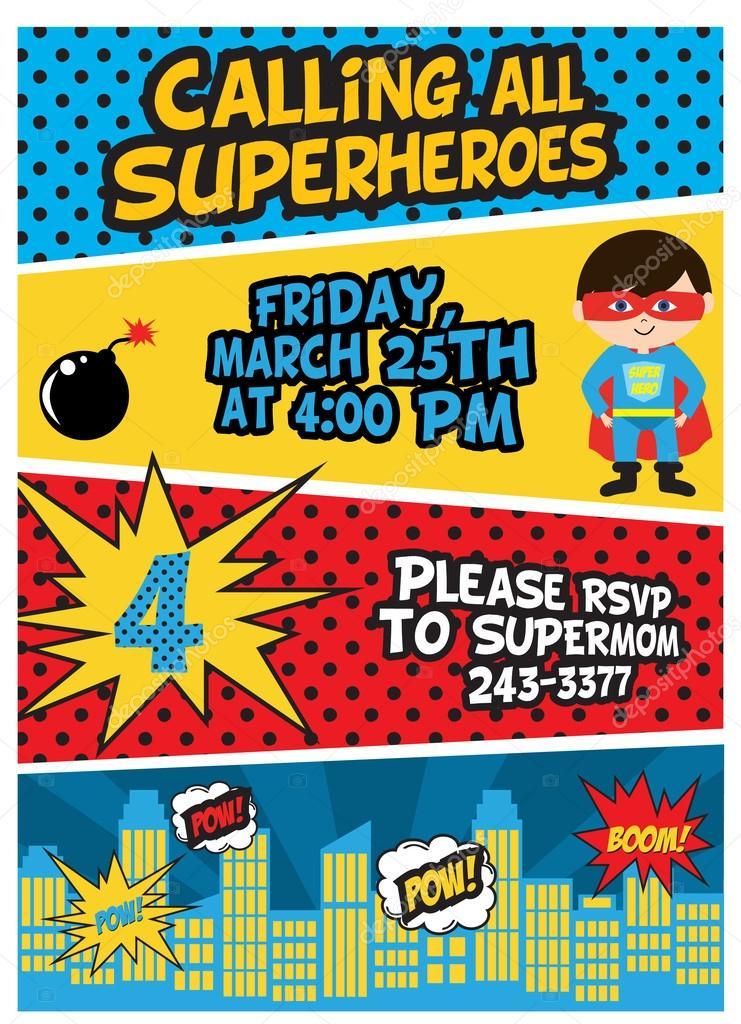 https depositphotos com 63392059 stock illustration superhero birthday party html