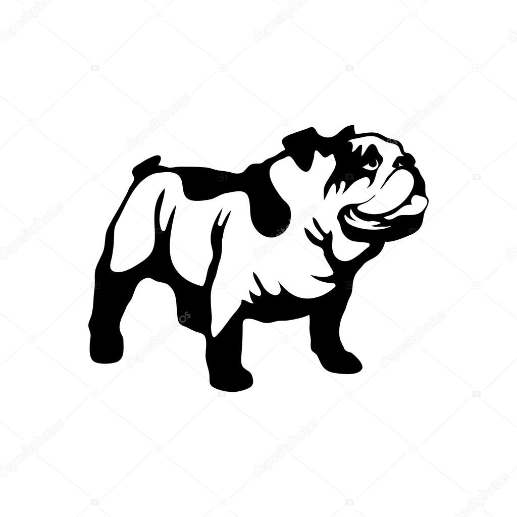 Cute Bulldog Logo