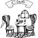 Photos Paris Cafe Black And White Cafe In Italy Paris Black And White French Cafe Restaurant Stock Vector C Mariblackhair 85615870