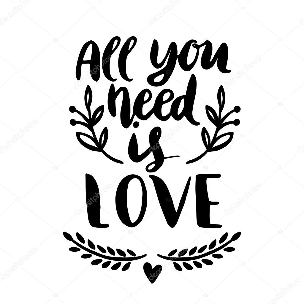 Download All you need is LOVE — Stock Vector © Maria_Galybina ...