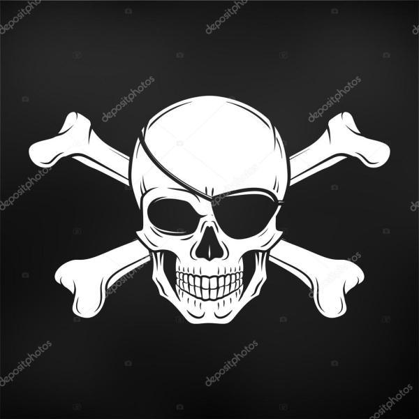 Иконка пират | Пират иконка. Jolly Roger с повязкой и ...
