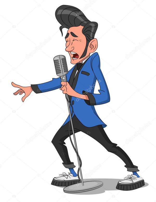 Человек с микрофоном . — Векторное изображение © Gatts ...