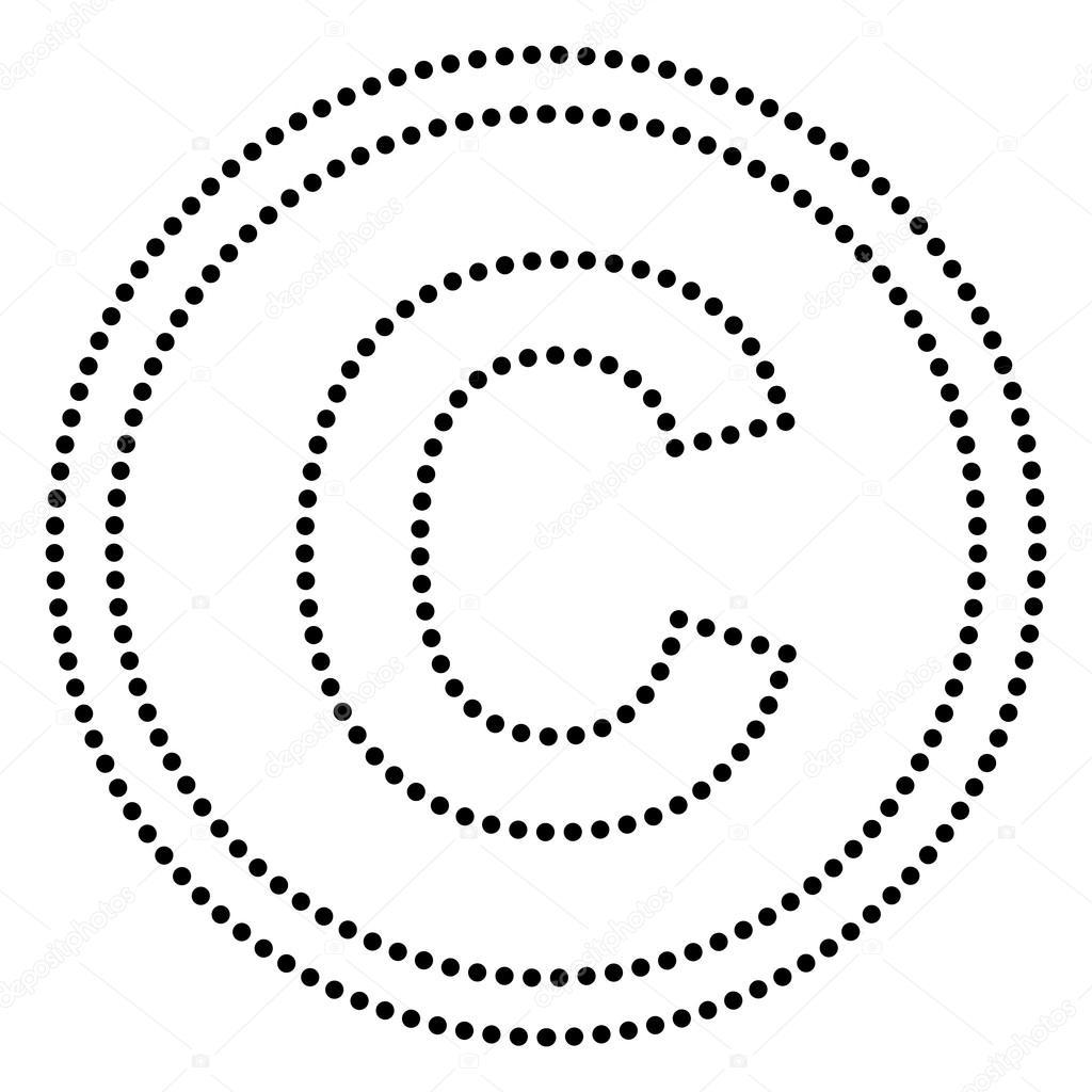 Copyright Zeichen Darstellung