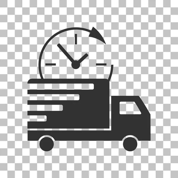 Illustration de livraison de signe. Icône grise foncée sur ...