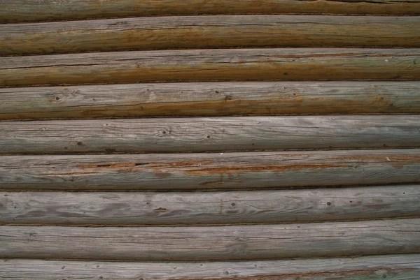 Старая стена из деревянных бревен — Стоковое фото ...