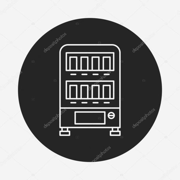 Значок торгового автомата — Векторное изображение ...