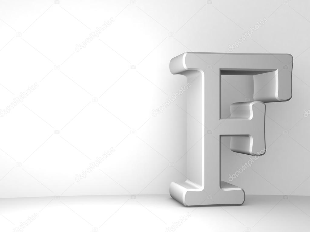 Single F alphabet letter     Stock Photo      LovArt  65441965 3d illustration of single F alphabet letter on white background     Photo by  LovArt