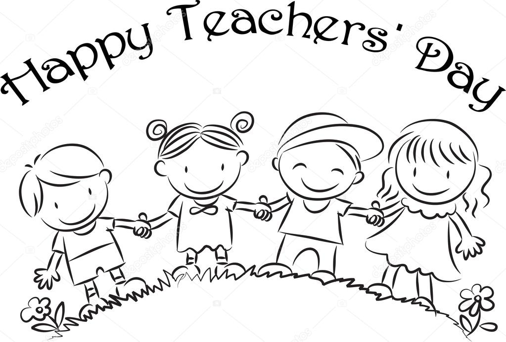 Cartoon Drawing Happy Teachers Day Card Stock Photo C Wenpei 65839815