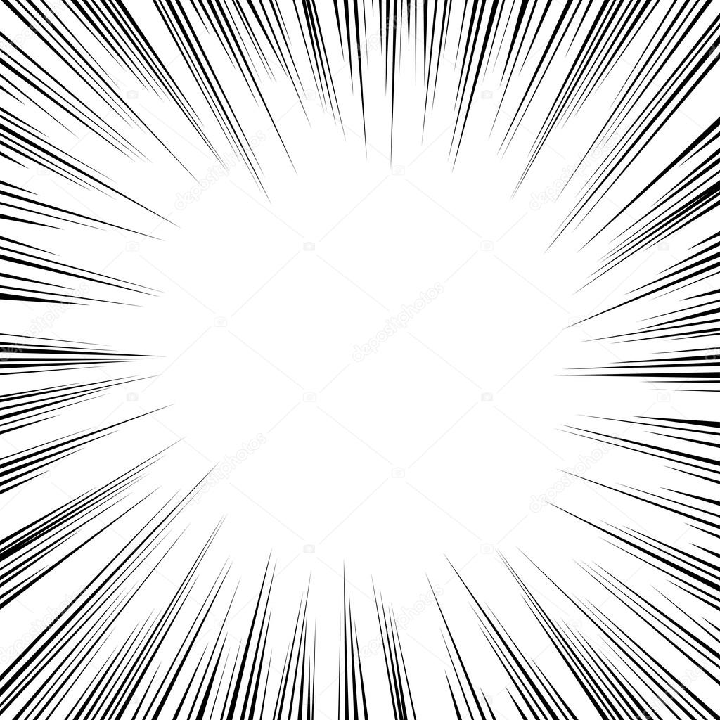 Comic Book Radial Speed Lines