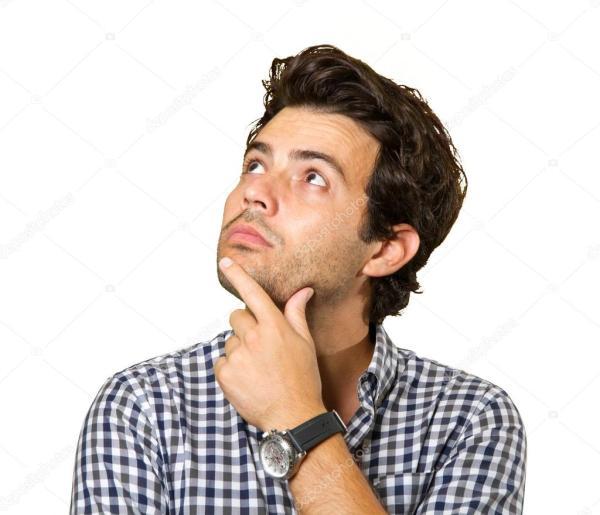 Молодой задумчивый человек — Стоковое фото © josemagon ...