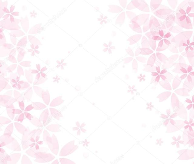 Cherry Blossom Flower Background In Pink Stock Vector