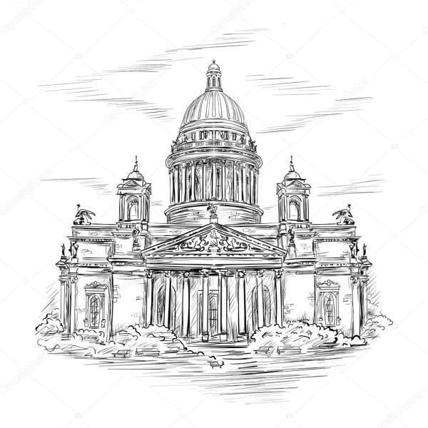 Вектор: исаакиевский собор. Св. isaacs собор — Векторное ...