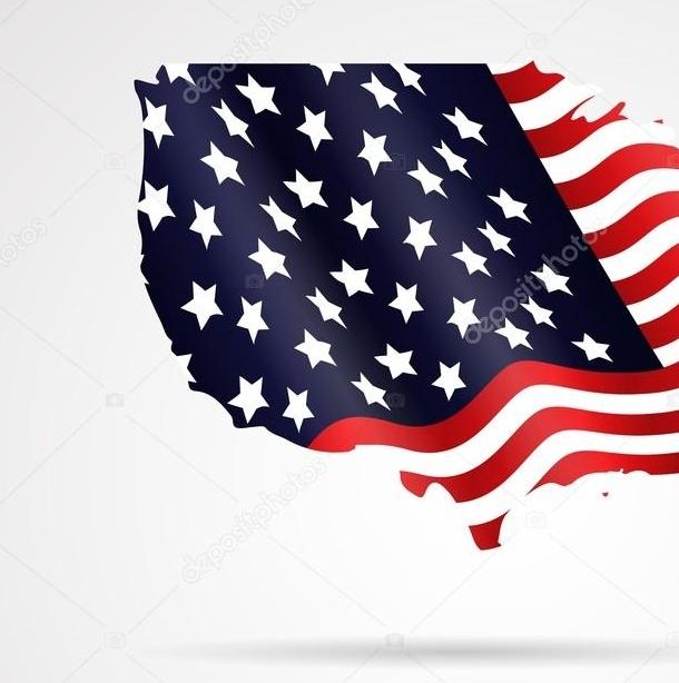 HD Decor Images » United States of America flag map in geometric  Abstract   isolated     United States of America flag map in geometric  Abstract   isolated  background     Stock Vector