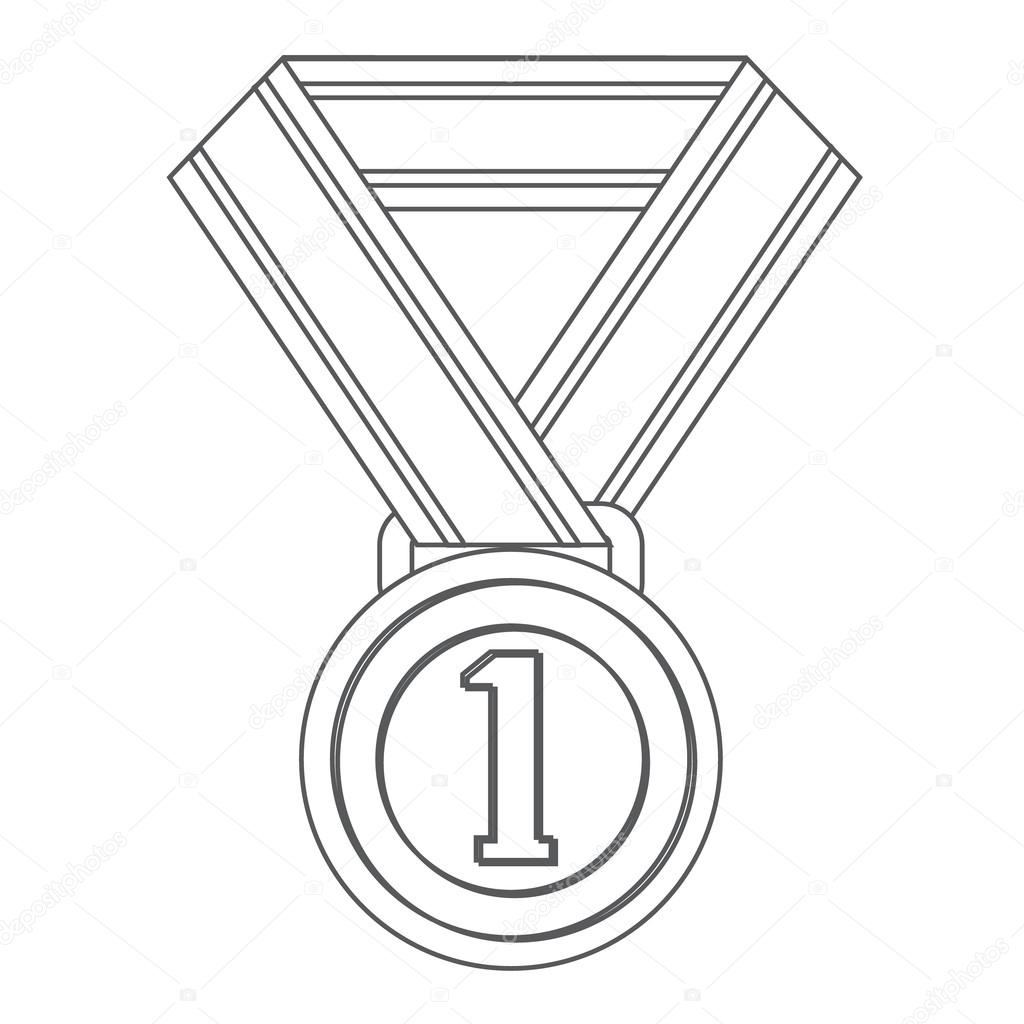 Medal For The First Place Sports Equipment Black And
