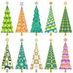 Clipart Christmas Tree Decorations Retro Christmas Tree Decorations Stock Vector C Pingebat 75094841