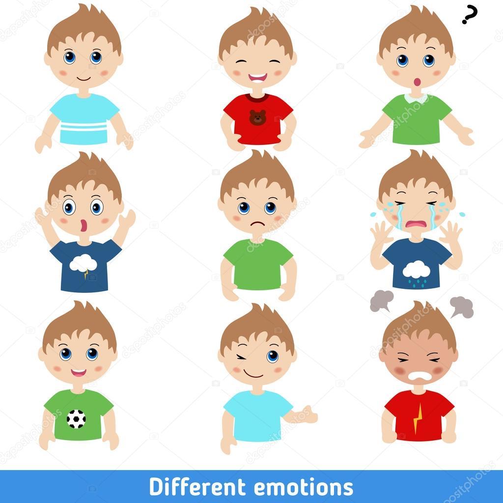 Garcon De Differentes Emotions