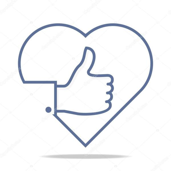 Abstract logo thumb up like finger design icon vector ...