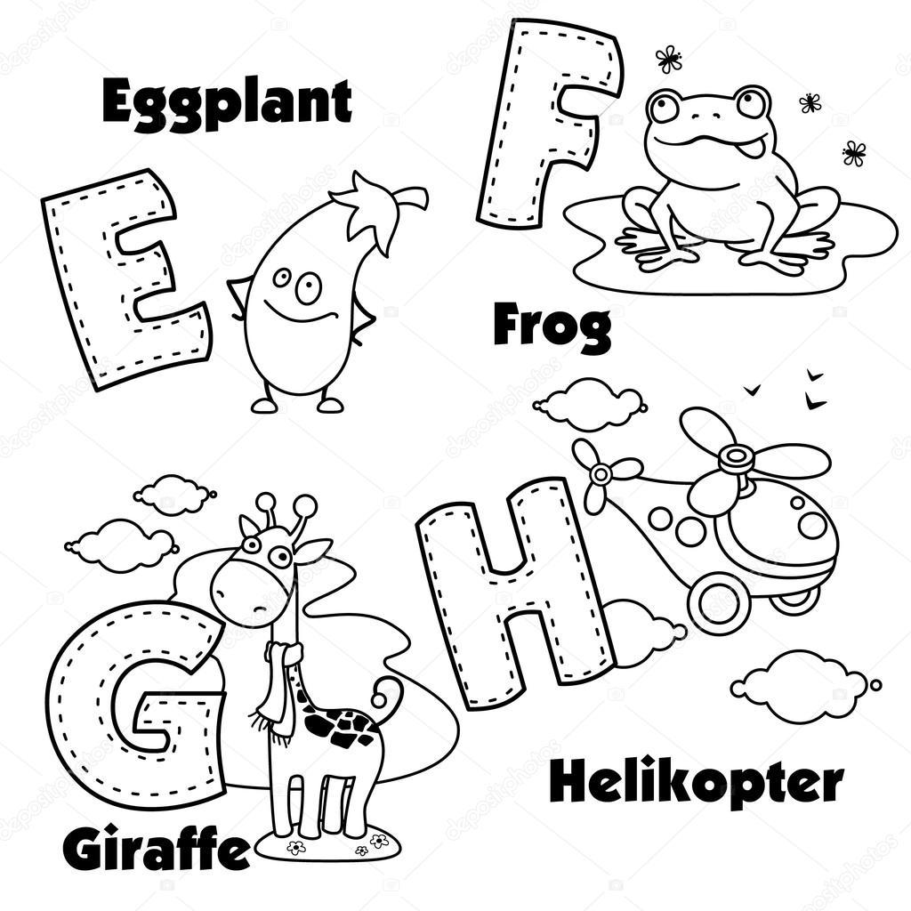 E F G H