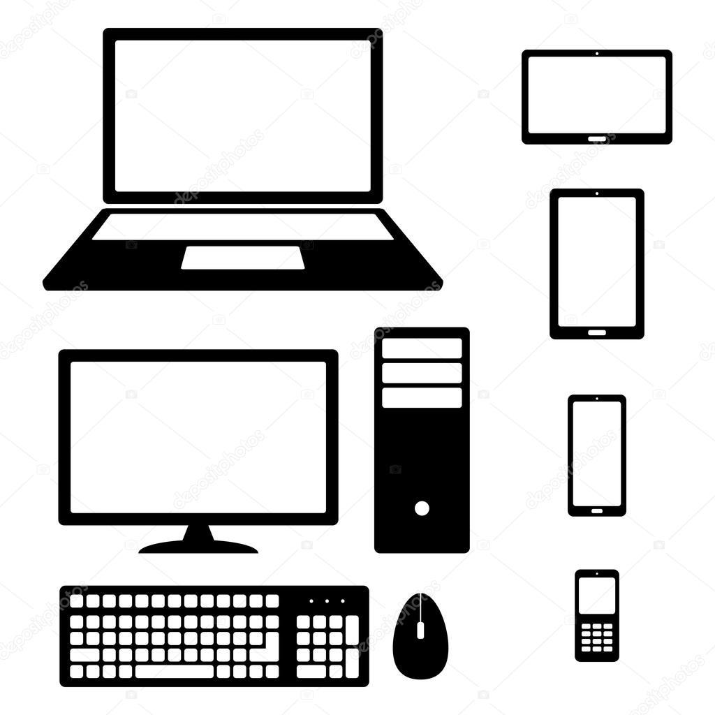 Device Icons Smartphone Tablet Laptop Desktop Computer