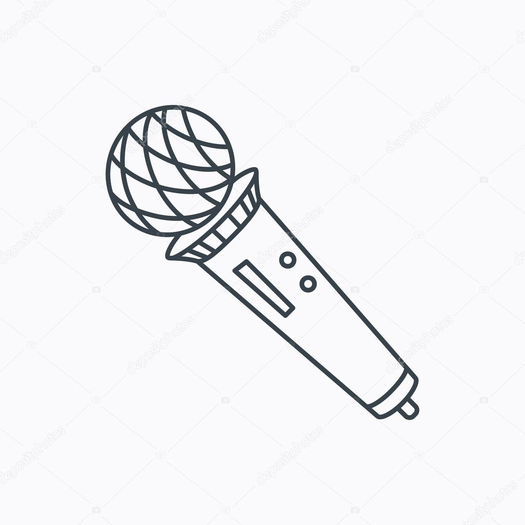 Microfoon Pictogram Karaoke Teken
