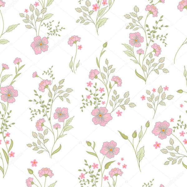 Small flower pattern Vintage floral seamless background